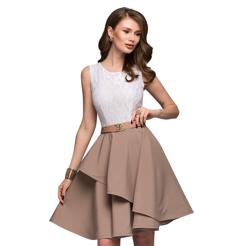 84499bbc2c Sukienka rozkloszowana falbana  WESELE 09-SU L - 7346904644 ...