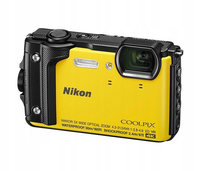 8e14afcd8197e Aparat cyfrowy Nikon W300 żółty + plecak Łódź - 7314413335 - oficjalne  archiwum allegro