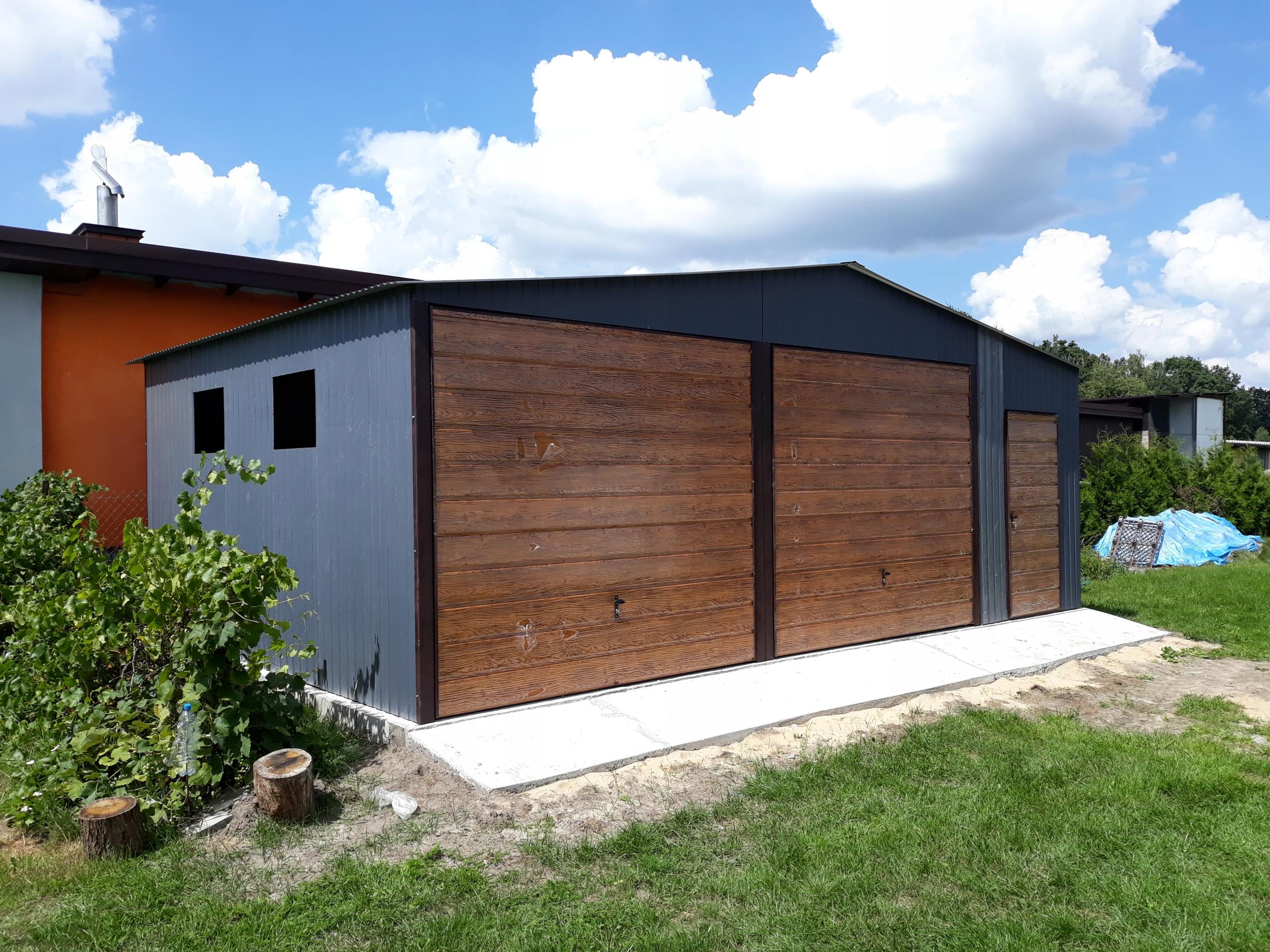 Wszystkie nowe garaż blaszany garaz blaszak 8x6 wysoki 250cm 7x7 - 7717283610 TS93