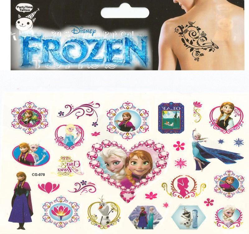 Kraina Lodu Frozen Zmywalne Tatuaże Naklejki 6750785030