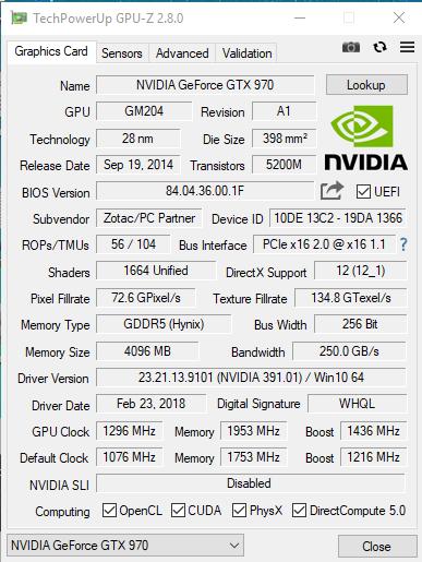 GTX 970 4GB + ACCELERO TWIN TURBO II JAK GTX 1060