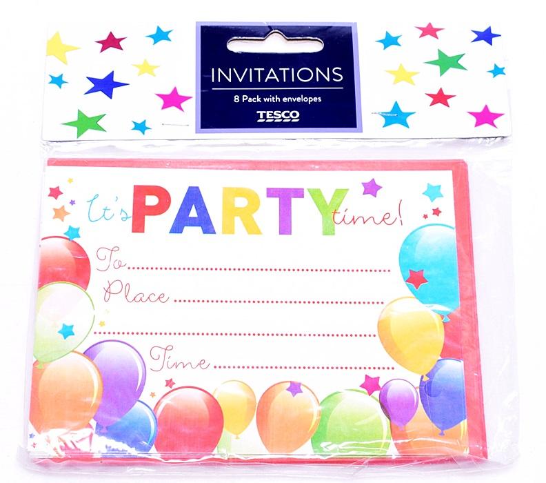 5639 9 Tesco Ww Zaproszenia Urodzinowe Balony 7225367969