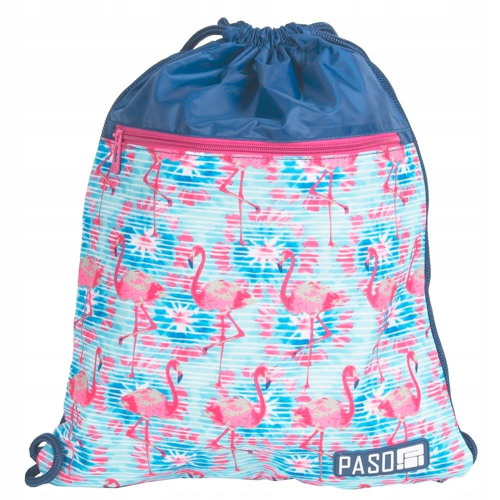cc211b29134cb PASO Worek na Obuwie Plecak na Sznurkach Flamingi - 7405623810 ...