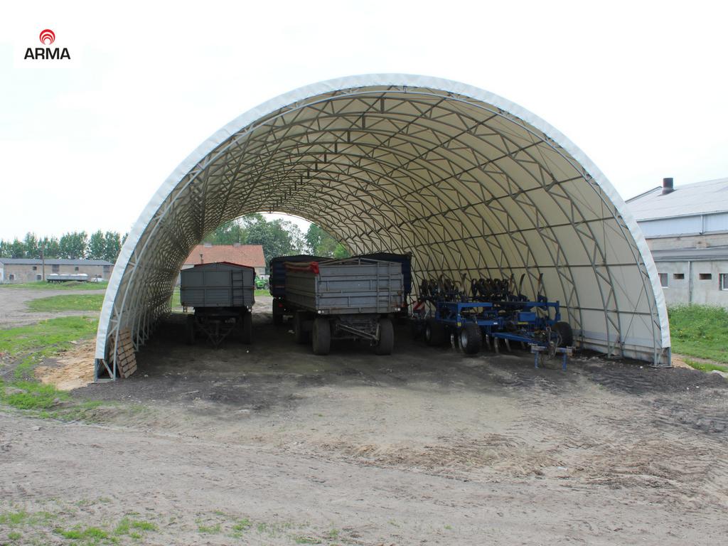 Wiata Zadaszenie Garaż Hala Tunelowa 10x44 7523401304 Oficjalne
