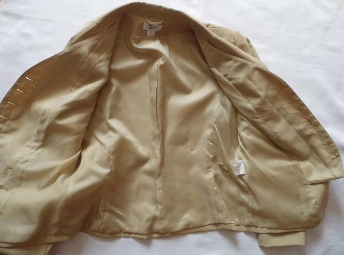 46ffcc6ab9 VIVIEN CARON-elegancki kostium r.21  42  jak nowy - 7558469317 ...