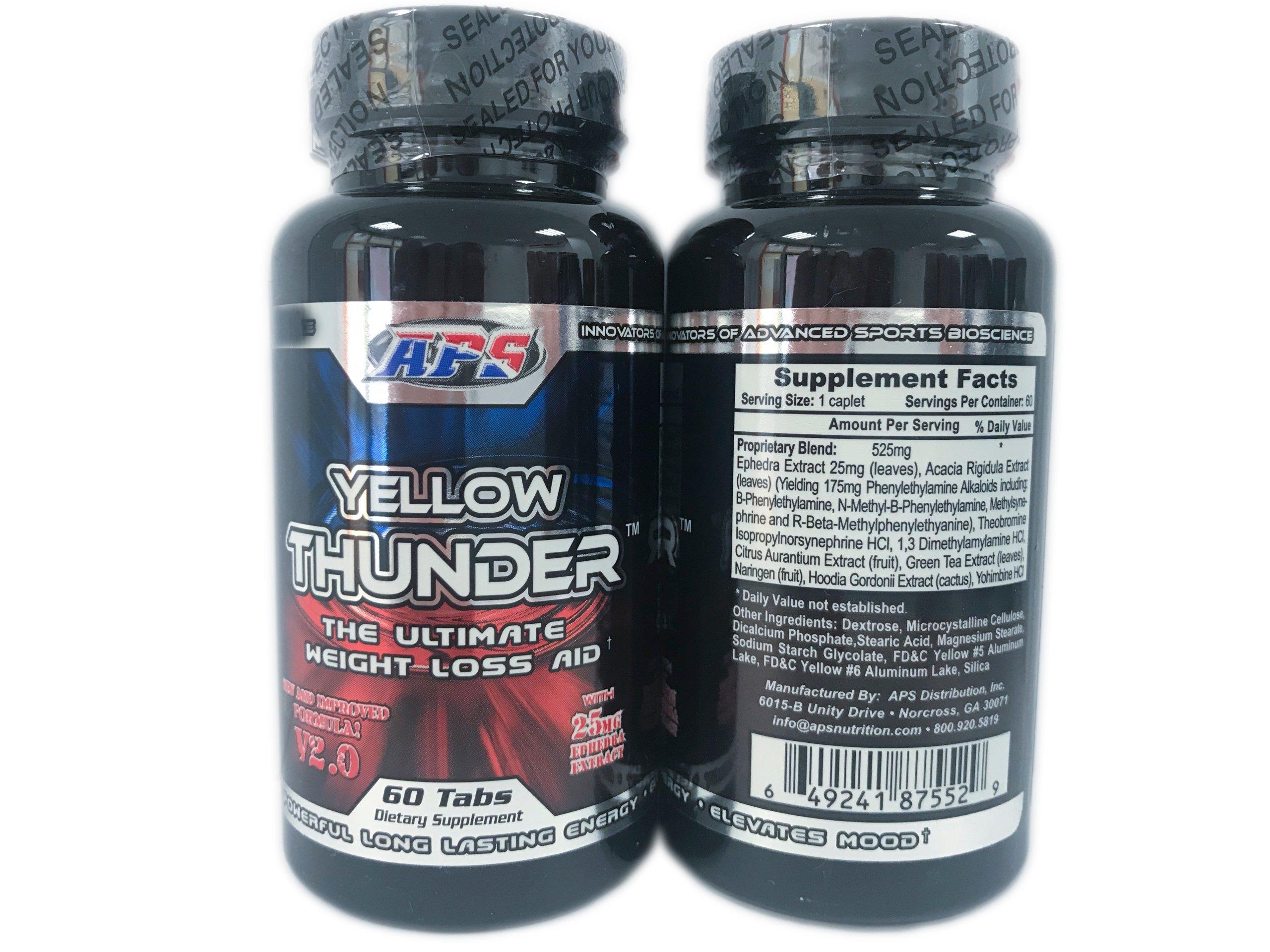 APS Yellow Thunder V2.0 60tabs MOCNY SPALACZ Z USA