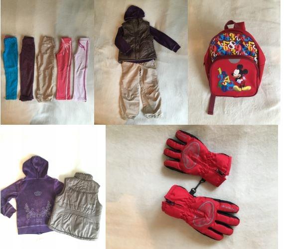 Zestaw ubrań dla dziewczynki, r. 110-116