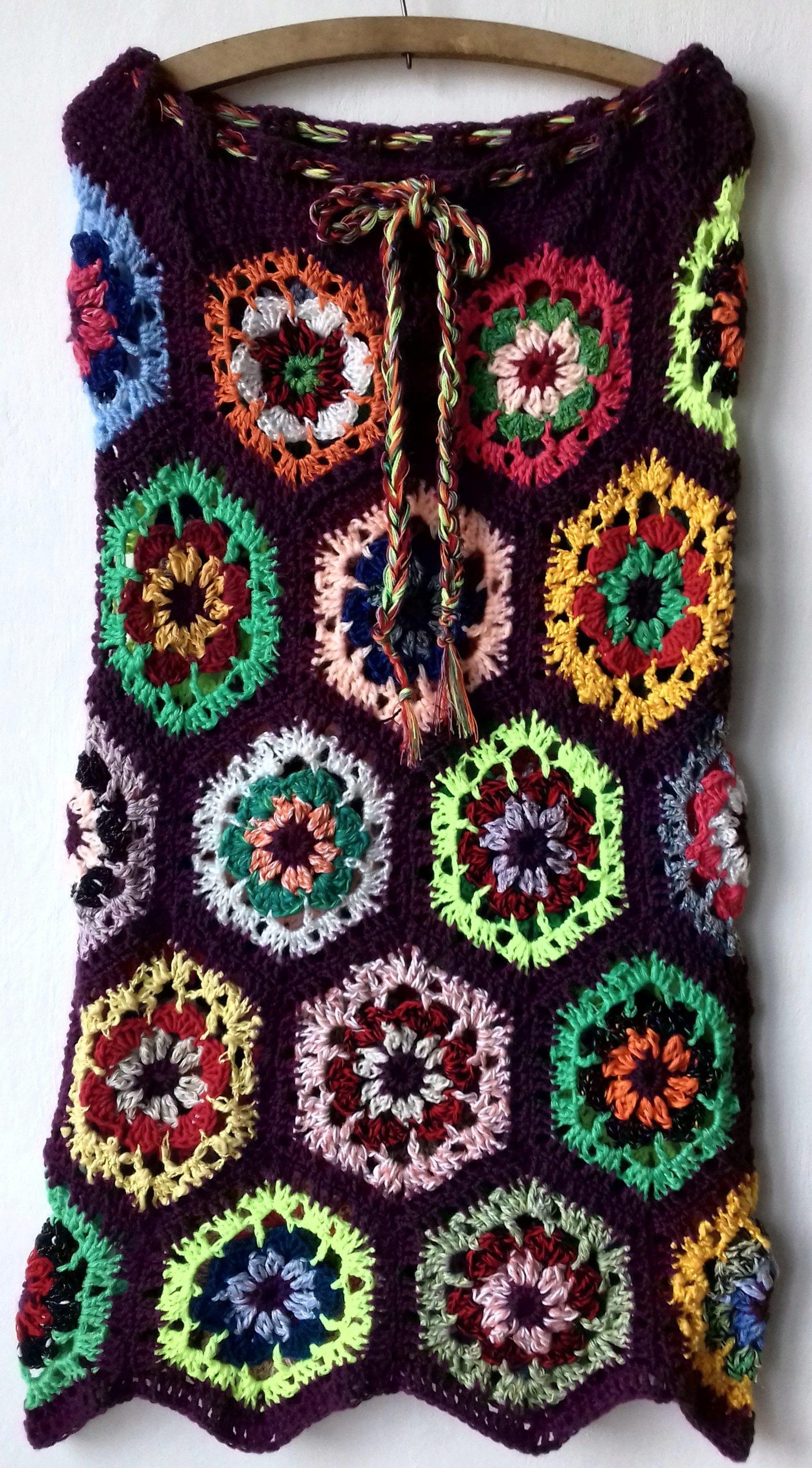 Spódnica szydełkowa, patchworkowa 42/47