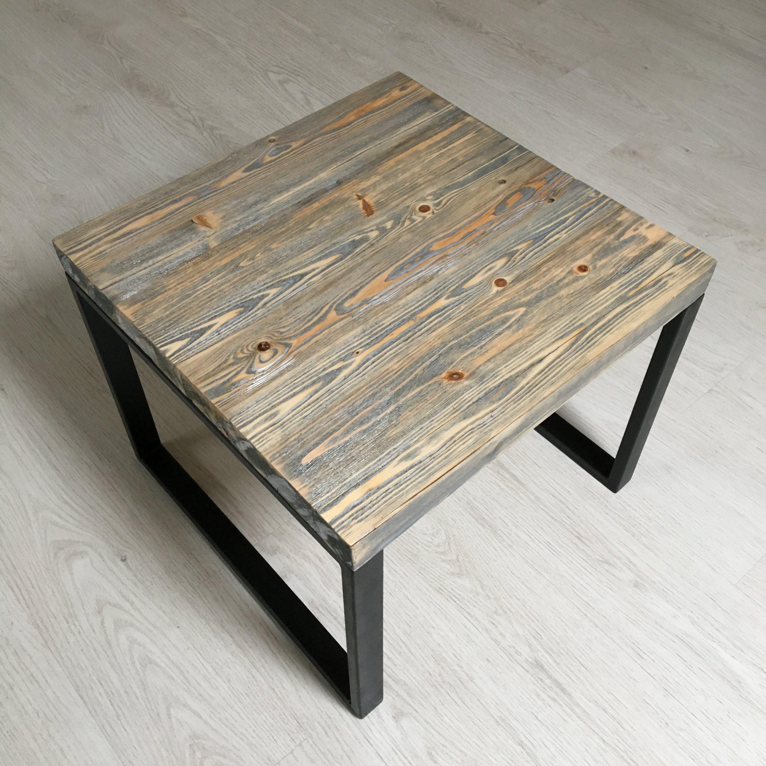 Stolik Kawowy Rustykalne Drewno Industrialny 7337114765