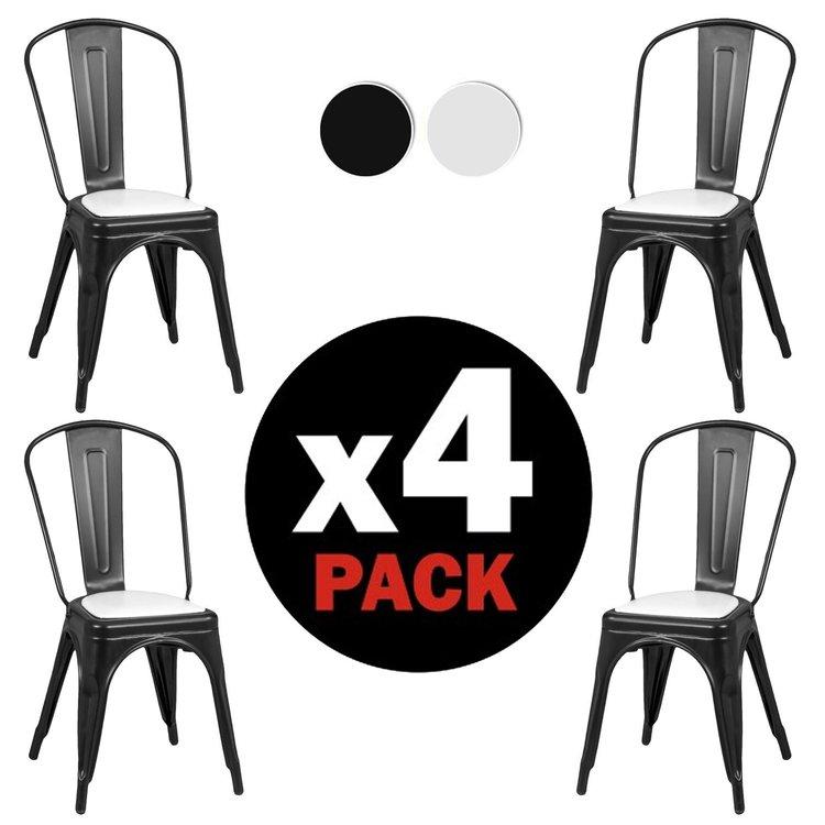 Due Home Krzesła Metalowe 4 Sztuki Czarne 7353018459 Oficjalne