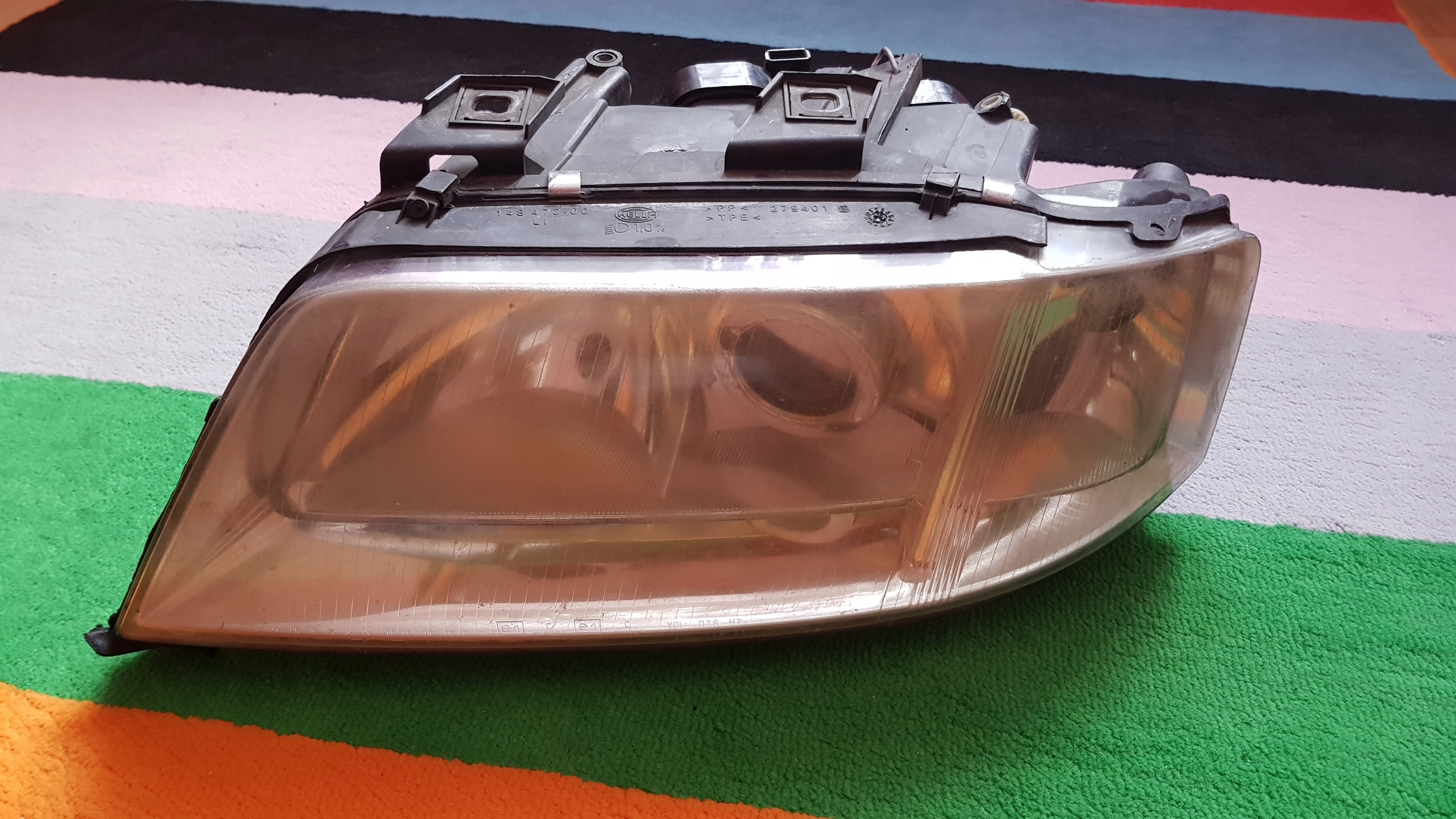 Lampa Lewa Przód Audi A6 C5 Przedlift Soczewka 7691690277