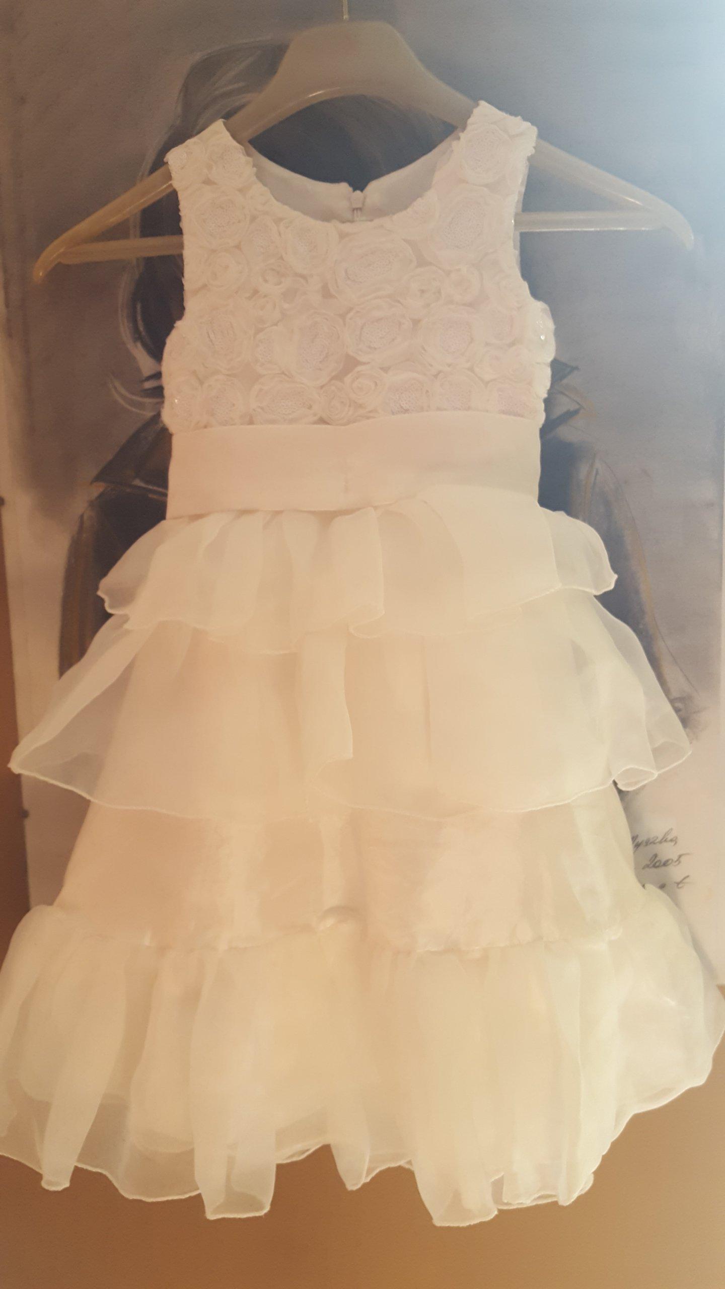 bbcff1a141 Sukienka wizytowa biała - chrzciny