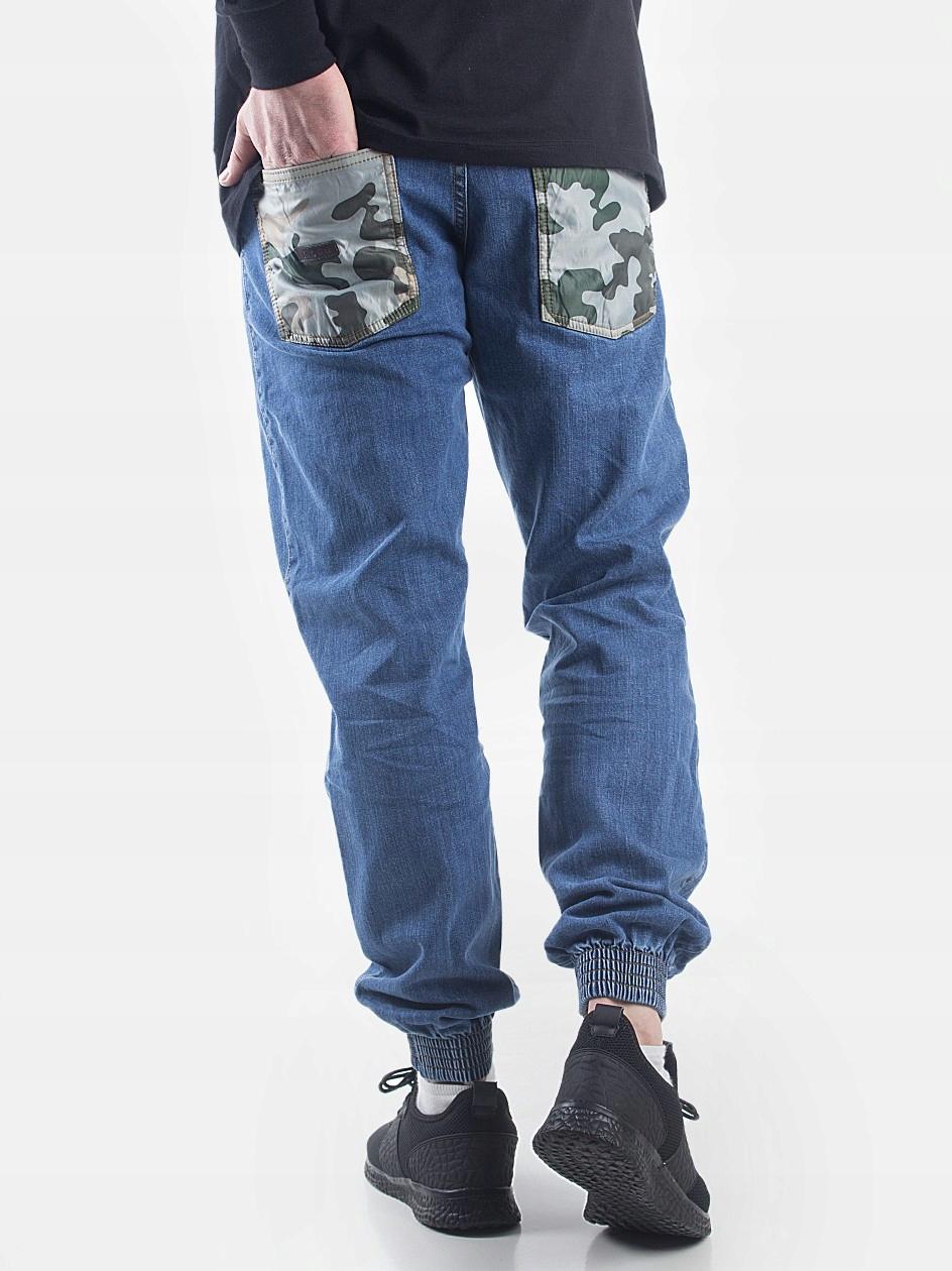 aaefeacb Spodnie Joggery Moro Sport Camo Pocket Mid Blue M - 7451219389 ...