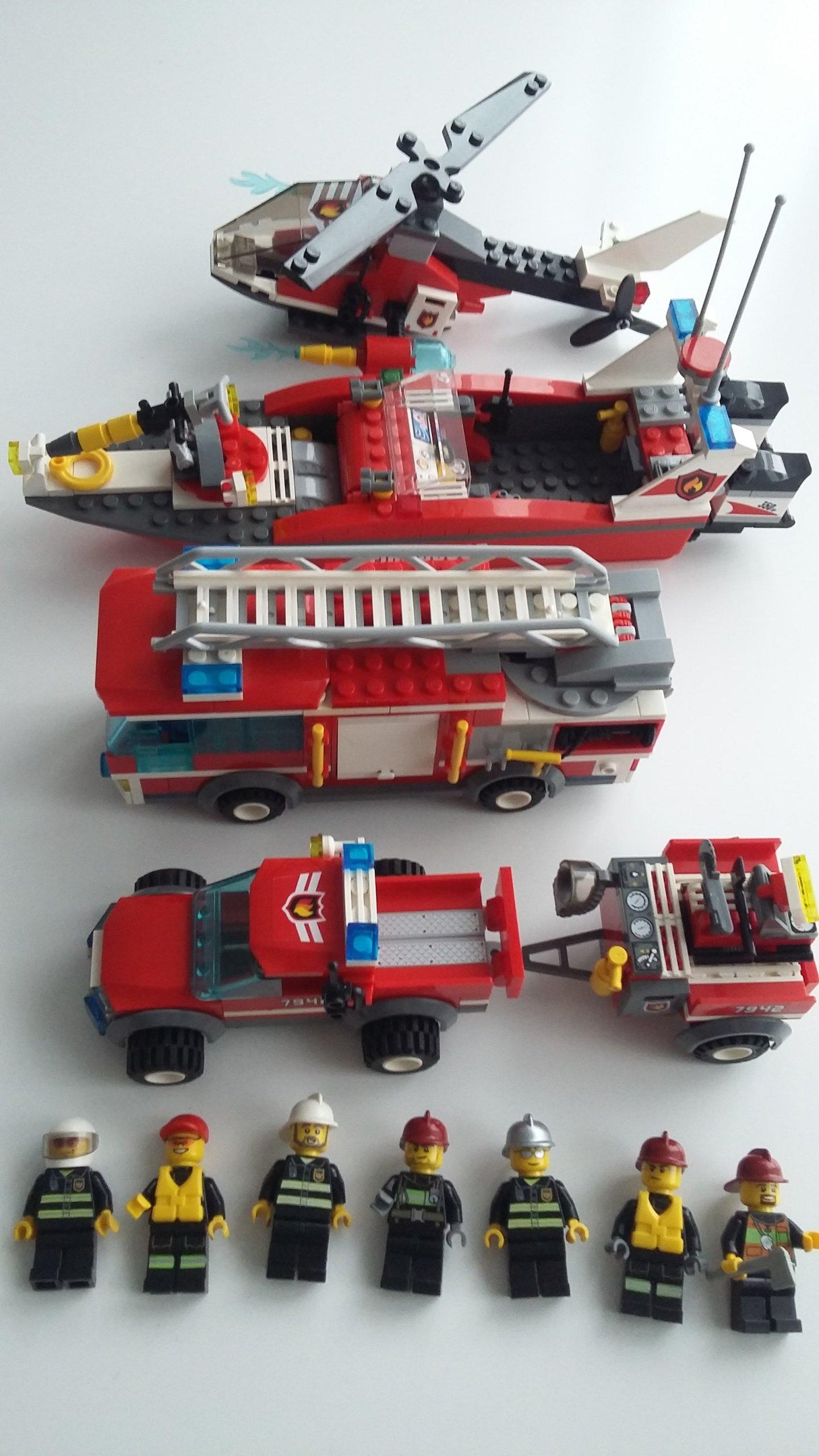 Lego City Straż Pożarna Cztery Zestawy Okazja 7242572527