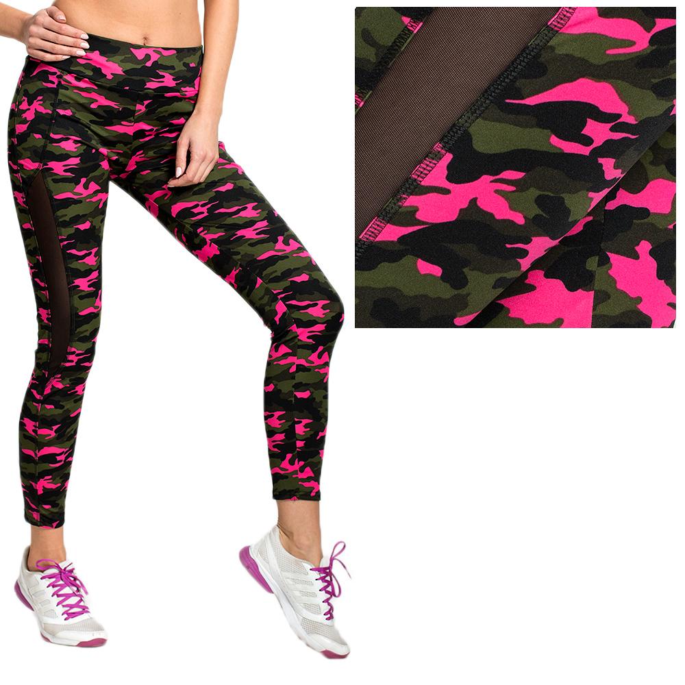 e13316bb7b7a99 Spodnie sportowe legginsy moro neon B82 WZORY L XL - 7148662676 ...