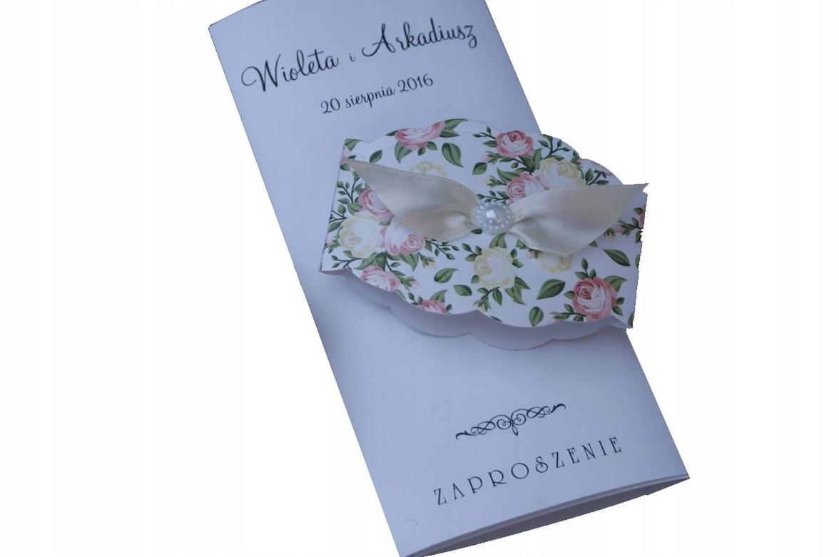 Zaproszenia ślubne W Opasce Kwiaty Vintage 6675867310 Oficjalne