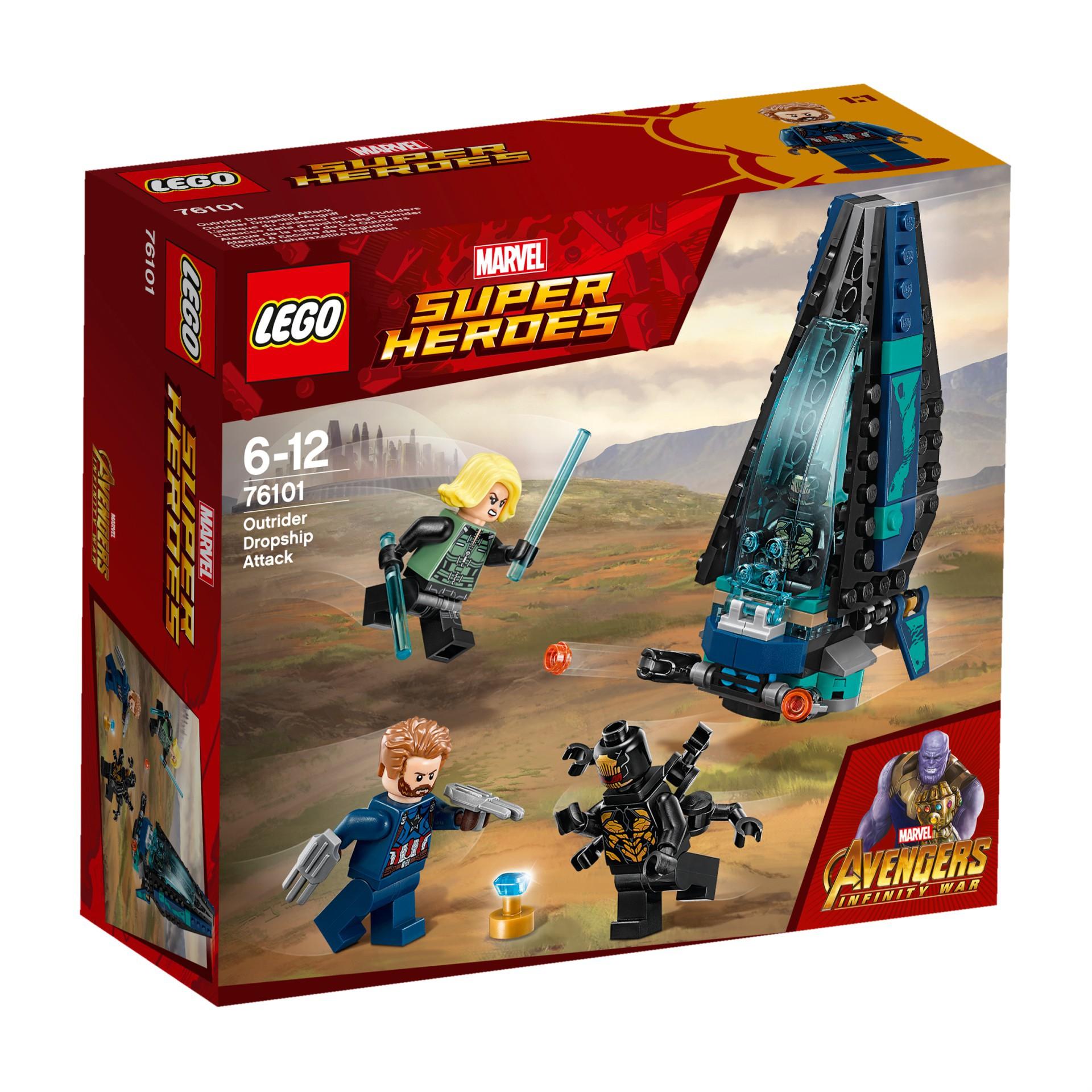 łódź Lego Avengers 76101 Atak Statku Outriderów 7241113062