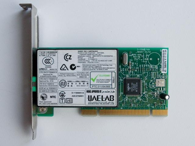 MODEM PCI - LITE-ON D1156I -100%Spr. Faktura