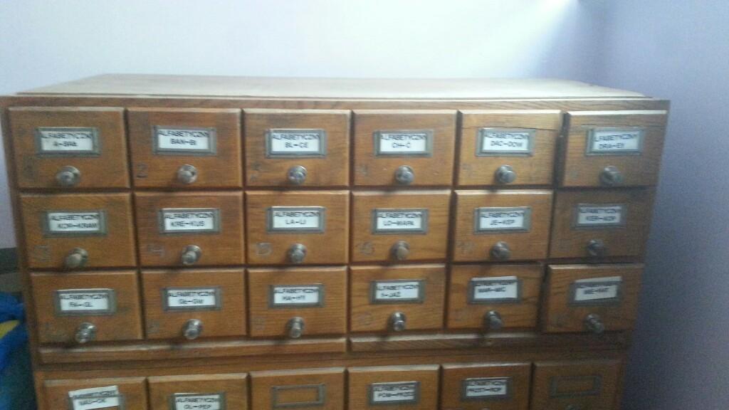 Wybitny szafka katalogowa loft biblioteczna - 7093278443 - oficjalne VH09