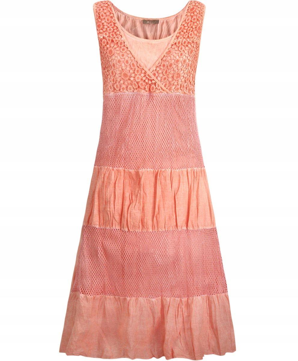 219398ef78 Duży rozmiar.Modna sukienka z koronką i siateczką - 7300887348 ...