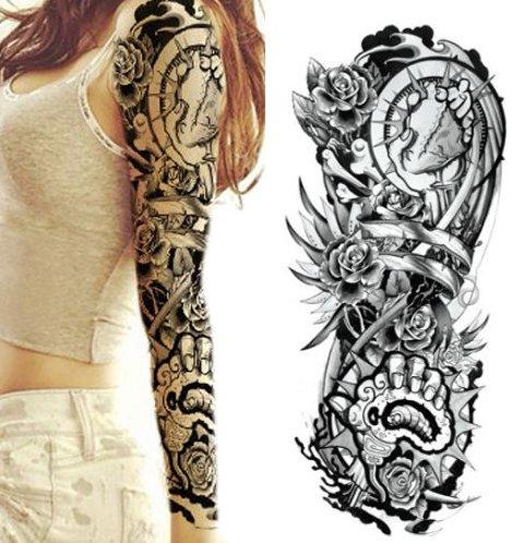 Naklejka Tatuaż Rękaw Kalkomania Tattoo Czaszki 40