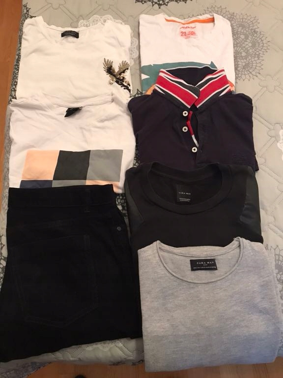 Mega Zestaw Zara HM t-shirt bluza sweter spodnie!!