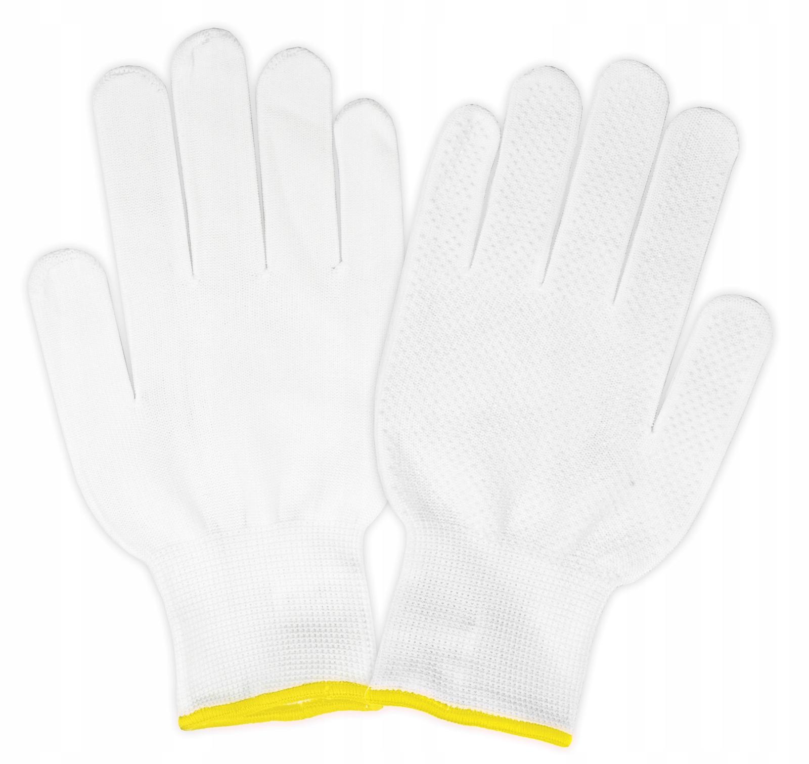 d9ddbc7d4b949d Rękawice bawełniane nakrapiane robocze -7/8 białe - 7516489520 ...