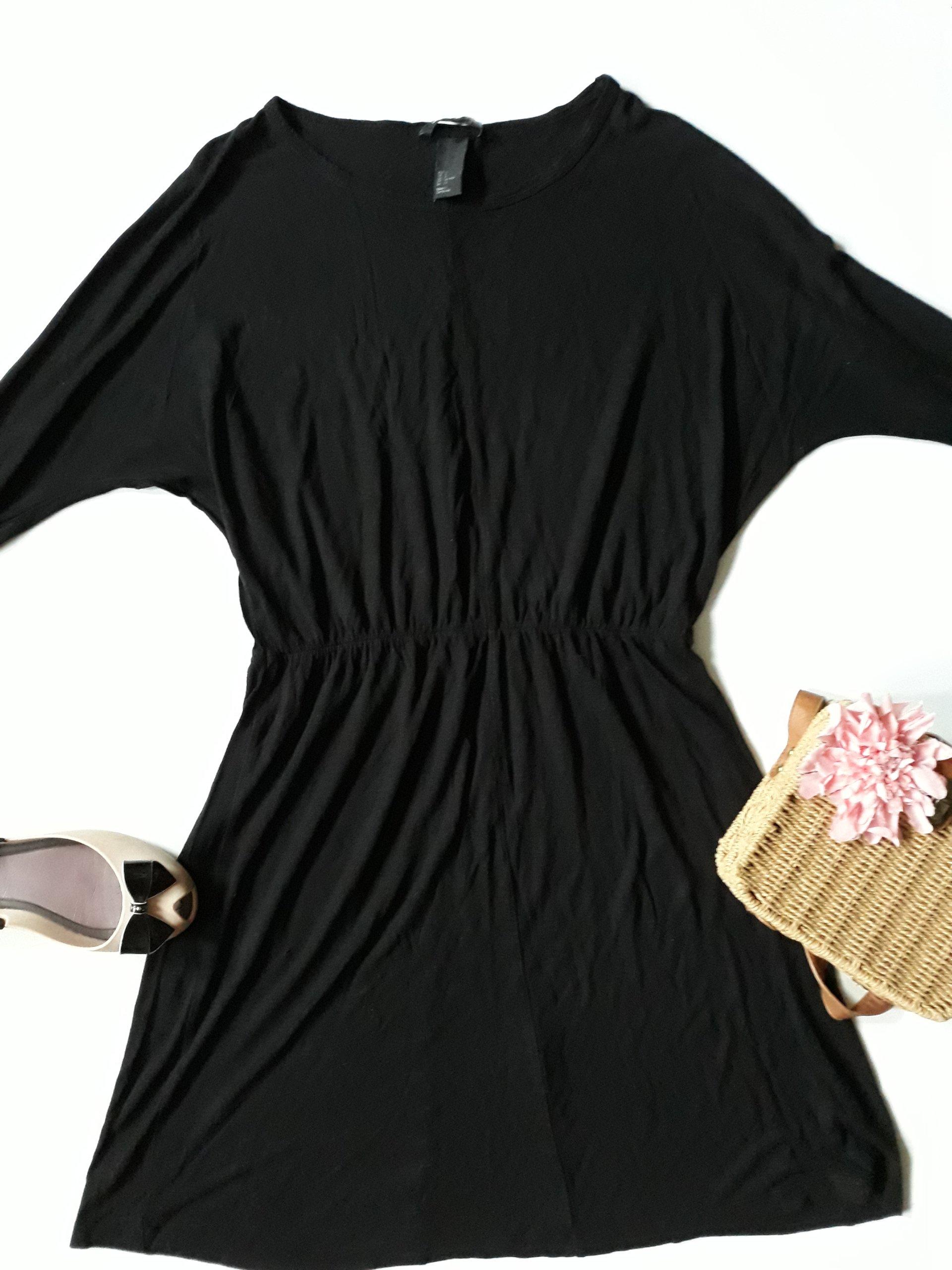 Sukienka H&M 36 S łączona paski z kieszeniami spódniczka i