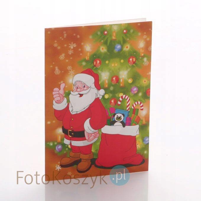 Mini-Album Mikołaj czerwony na zdjęcie 15x21
