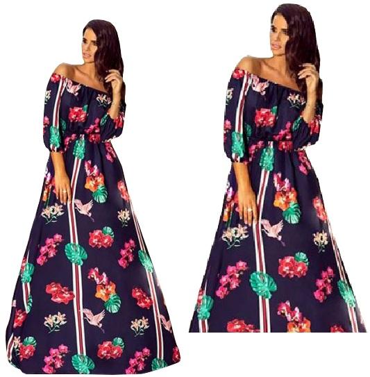 9ff79a0caf Sukienka Maxi HISZPANKA ZWIEWNA SUKNIA WESELE EMO - 7403869640 ...