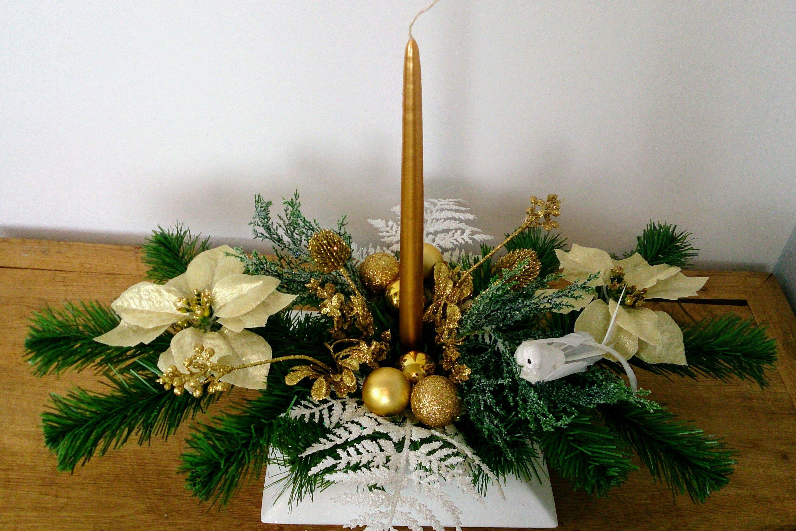 Stroik Na Boże Narodzenie Dekoracja Stołu Stroik