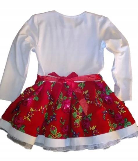 63e864229d Sukienka wiązana góralska folkowa r 116 122 - 7666693128 - oficjalne ...
