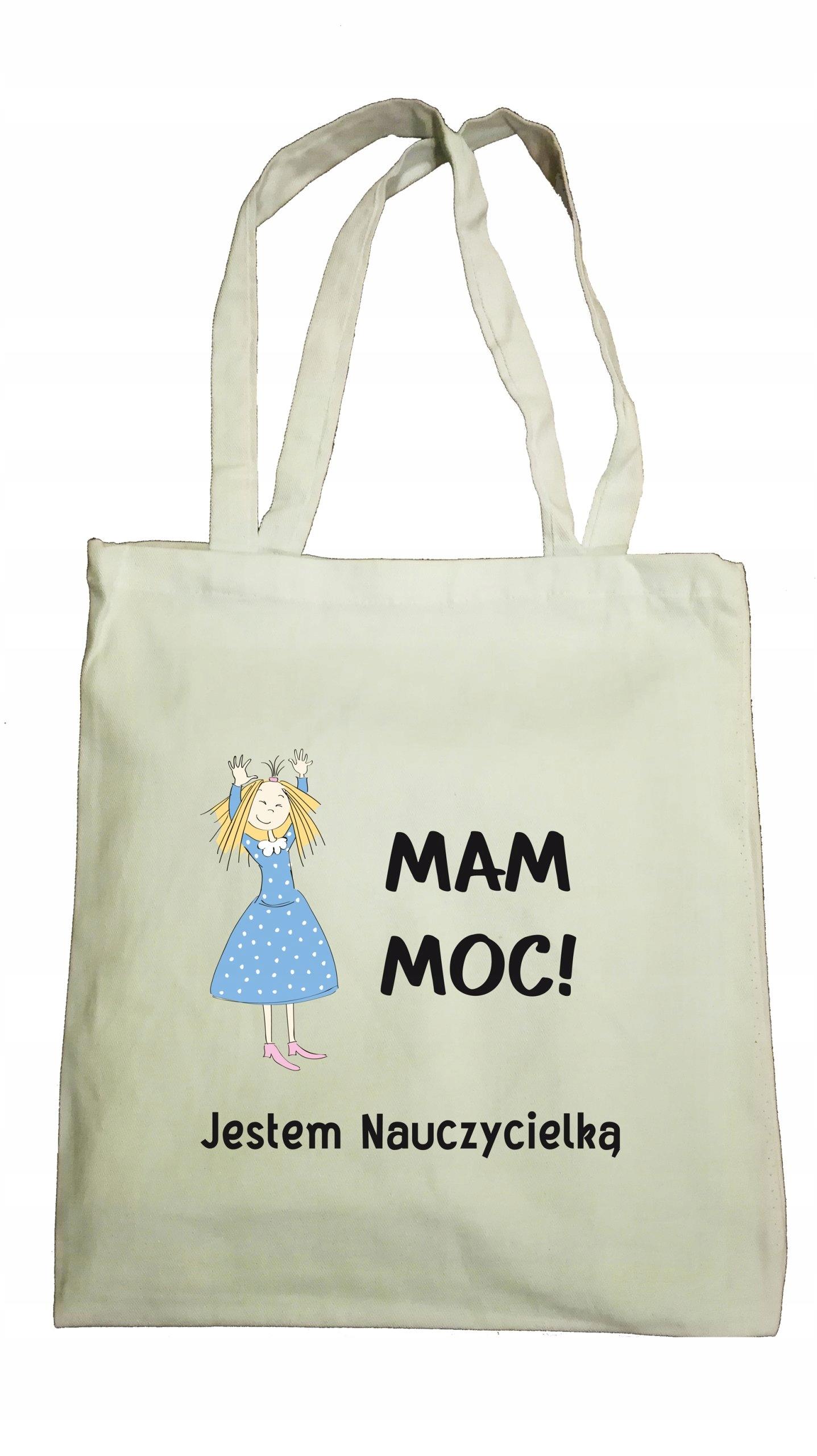 2c7612b1cc006 EKO TORBY torba bawełniana dzień nauczyciela MOC - 7572050477 ...