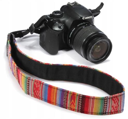 3b0ccbf54fc8 PASEK DO APARATU Nikon Canon WZORY VINTAGE RETRO - 7270536151 ...