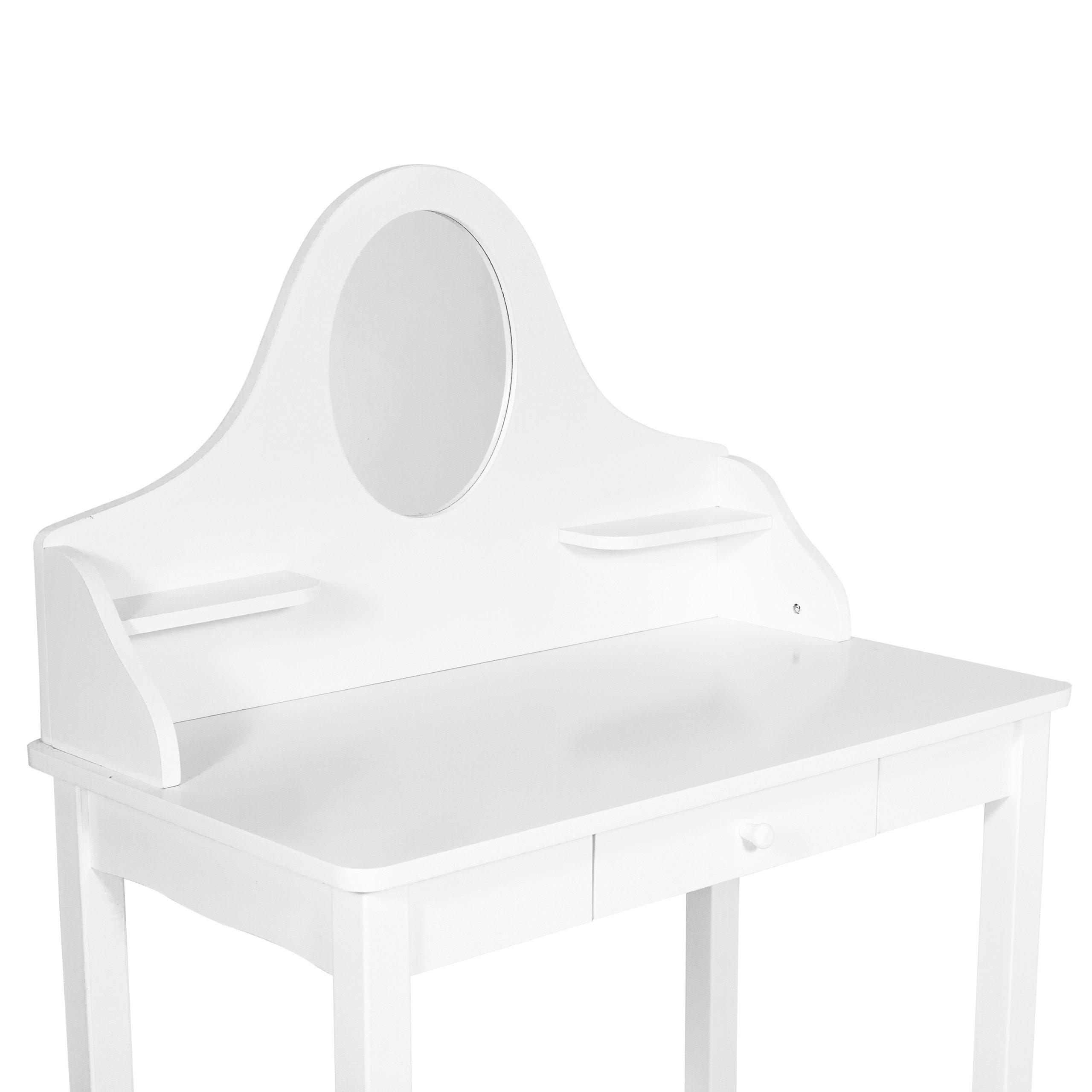 Drewniana Toaletka Dla Dziewczynki Biała Taboret 7055497386