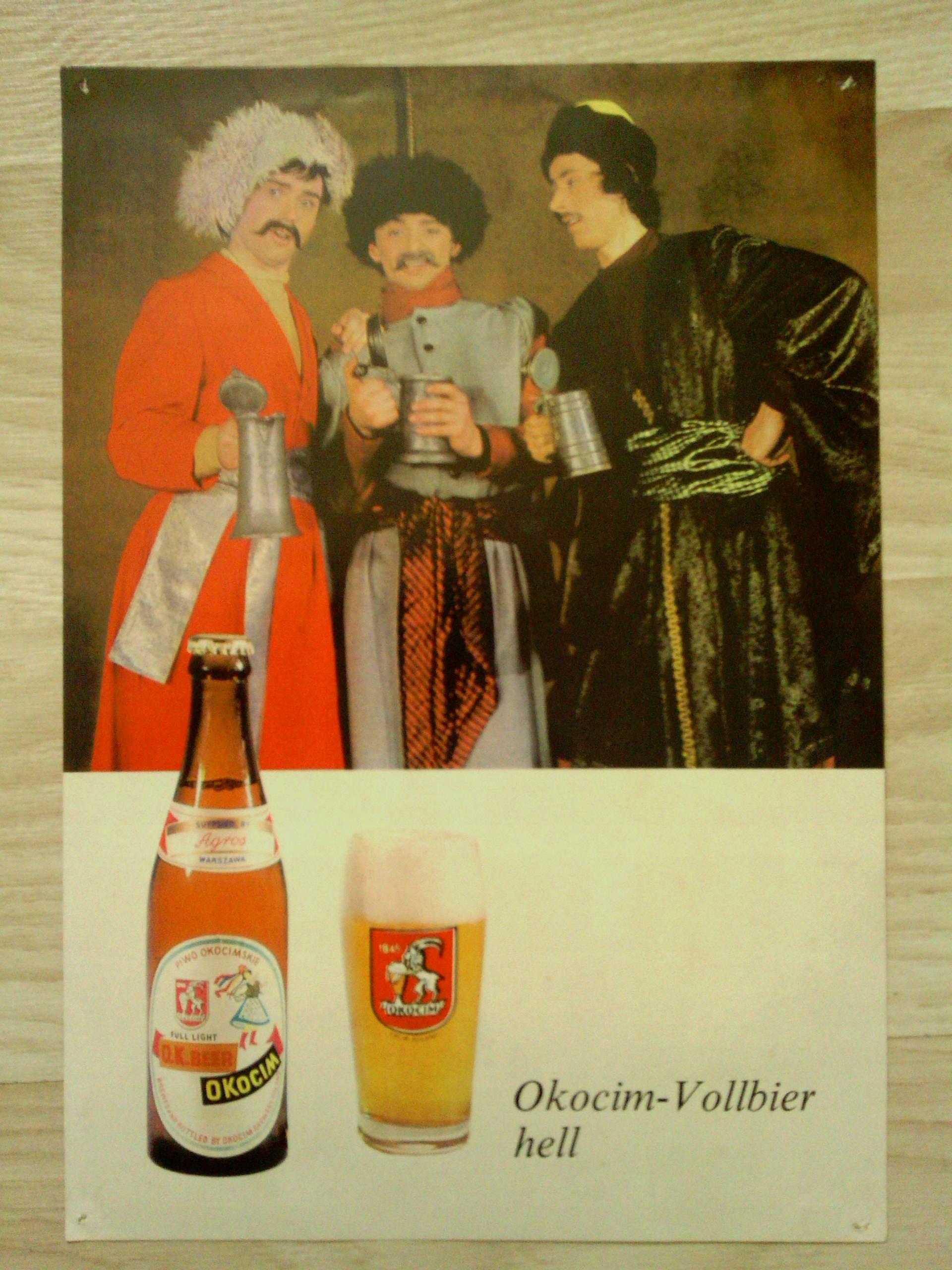 Stara Reklamaplakat Piwo Okocim