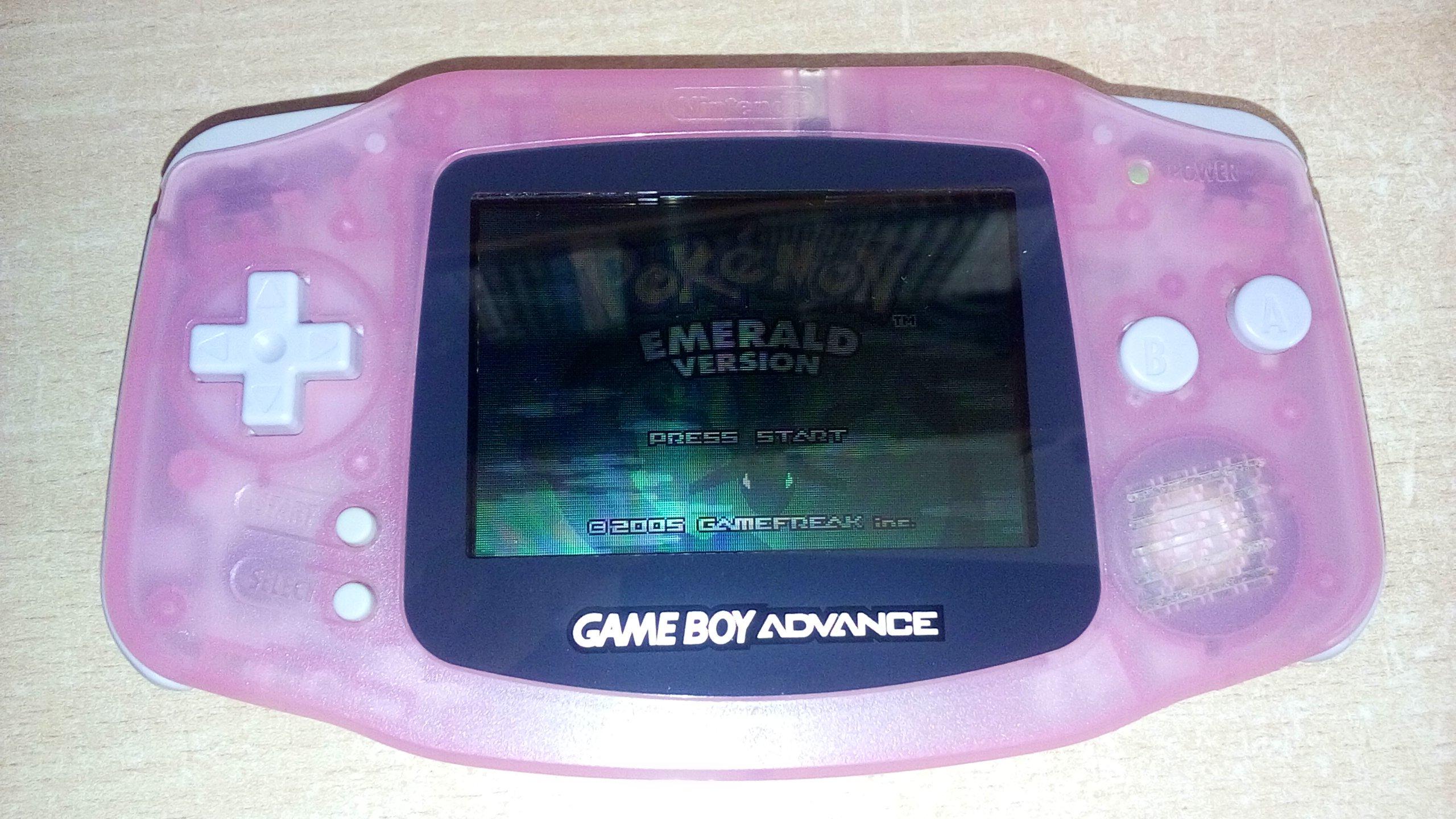 Game Boy Advance AGB-001 - Różowy transparentny
