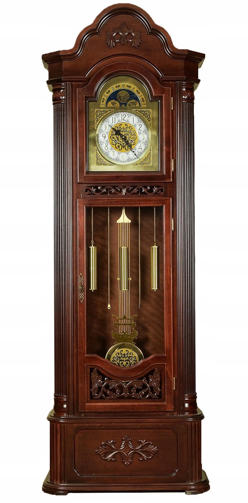 Stylowy Zegar Stojący Drewniany Nakręcany 81015 7449819237