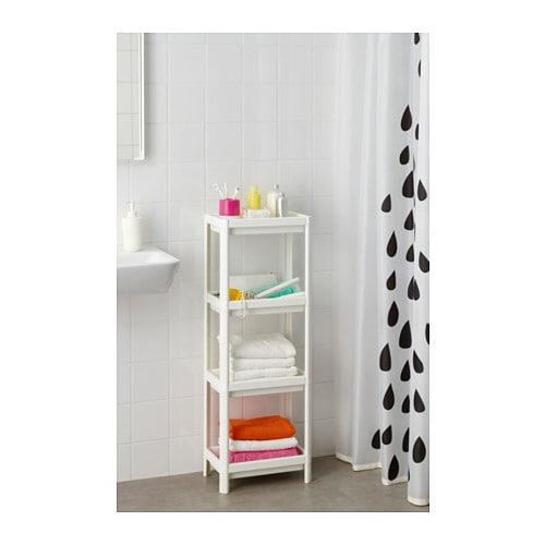Ikea Vesken Regał Szafka Do łazienki Biały 6689150810