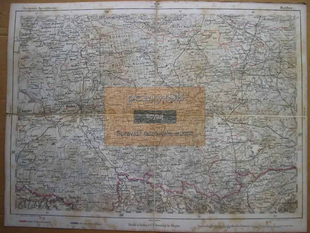 Mapa Kietrz Strumień Sośnicowice Jastrzębie