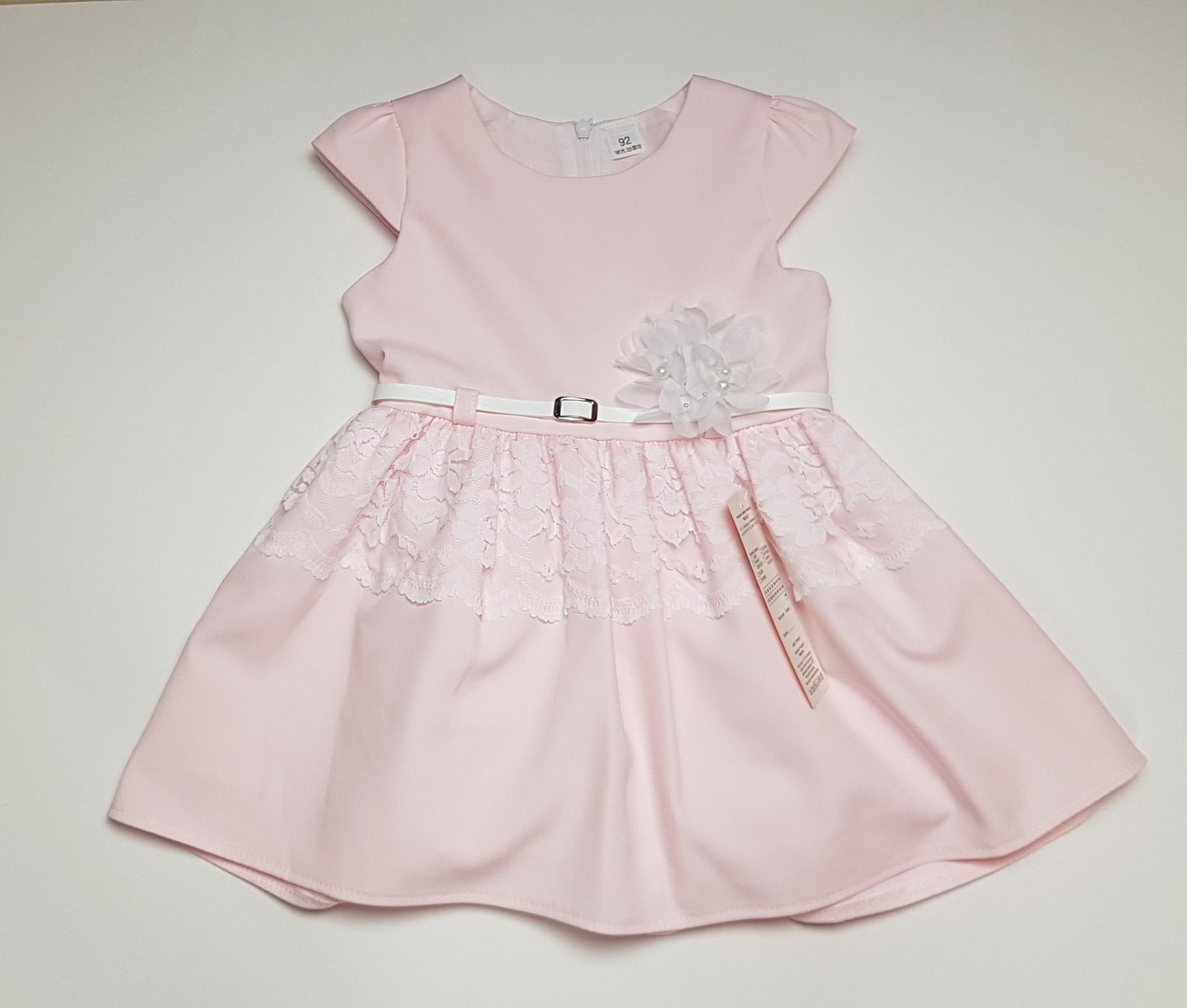 a777976c Sukienka elegancka róż roz 86 - 7295671832 - oficjalne archiwum allegro