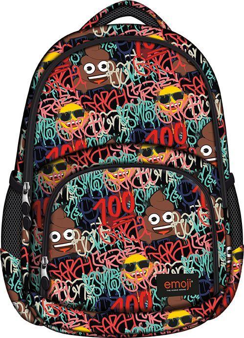 fbf57456184a Plecak szkolny 3 komorowy BP23 Emoji Graffiti - 7624245534 ...