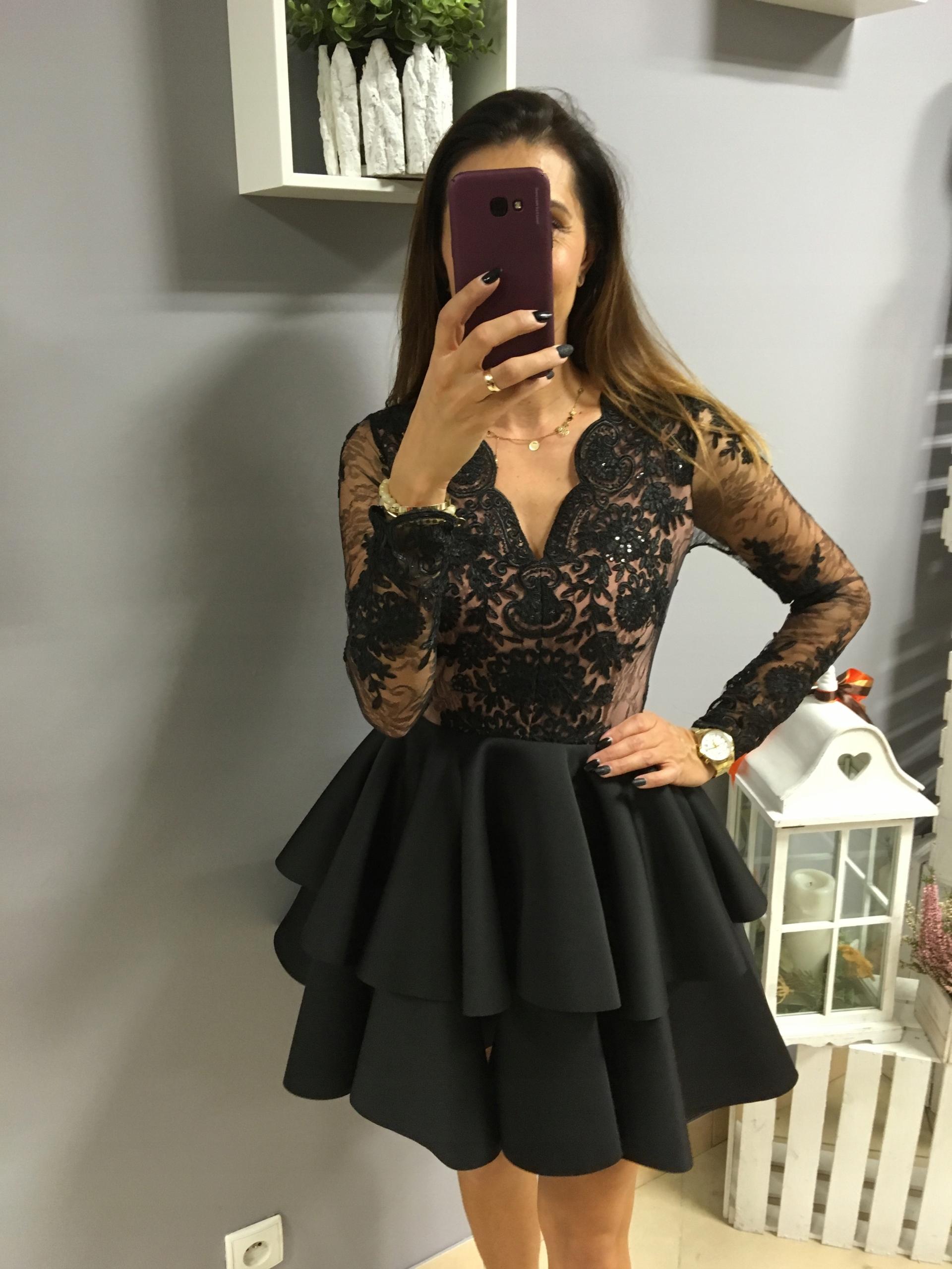 4dafb67330 sukienka pianka rękaw czarna Emo 38 M hit - 7661084269 - oficjalne ...
