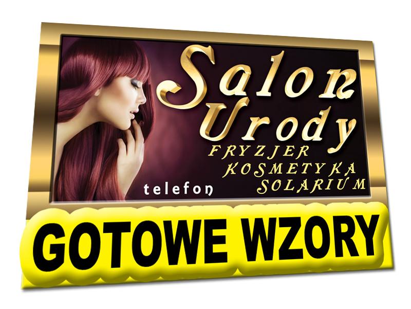Fryzjer Kosmetyka Solarium Szyld 2x1m Peruki 5539521746