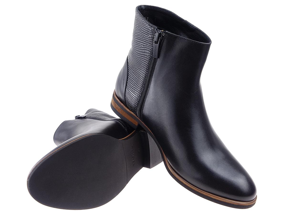 7a588b94 18% WOJAS buty 5620-51 czarne botki sztyblety 36 - 6628824794 ...