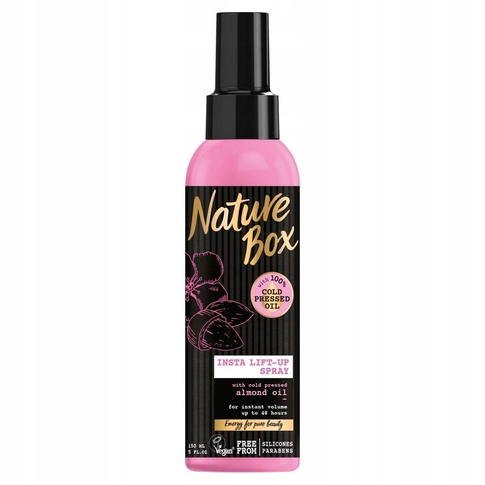 Nature Box Almond Oil Spray do włosów nadający obj