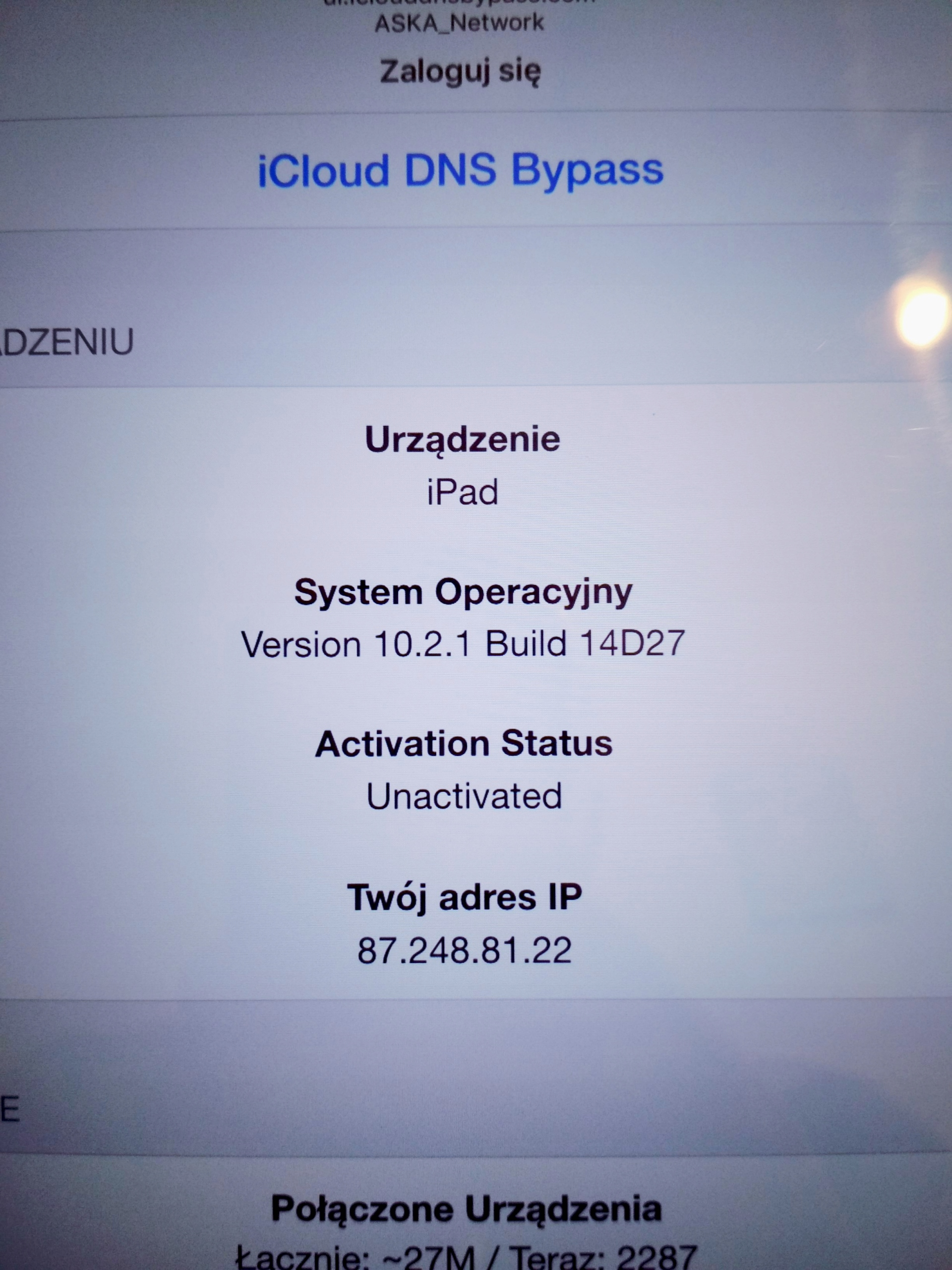 Apple iPad 4 16GB Biały iCloud Bypass CLEAN IGŁA