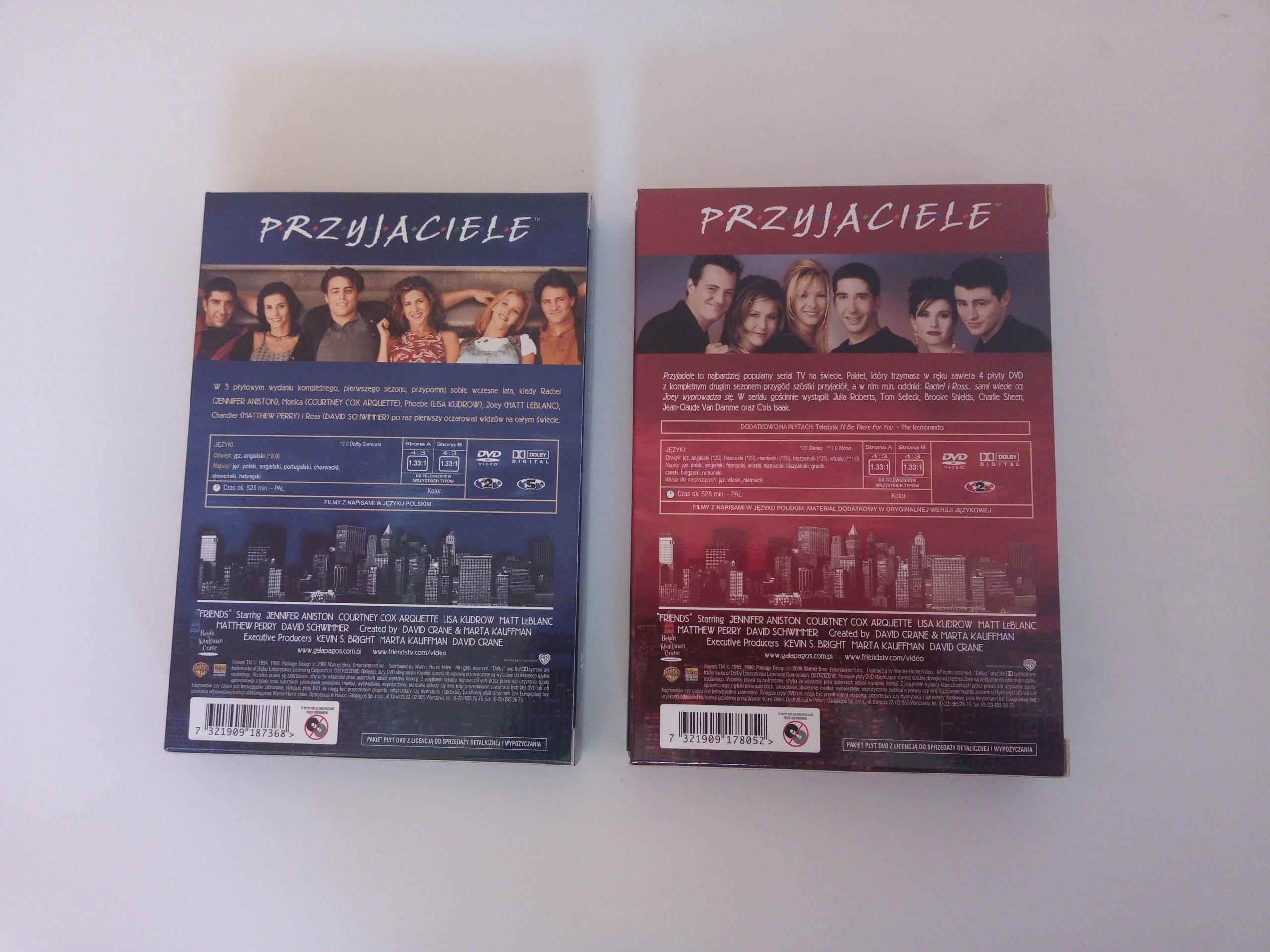 Przyjaciele Serial Dvd Sezon 1 2 7247235018 Oficjalne