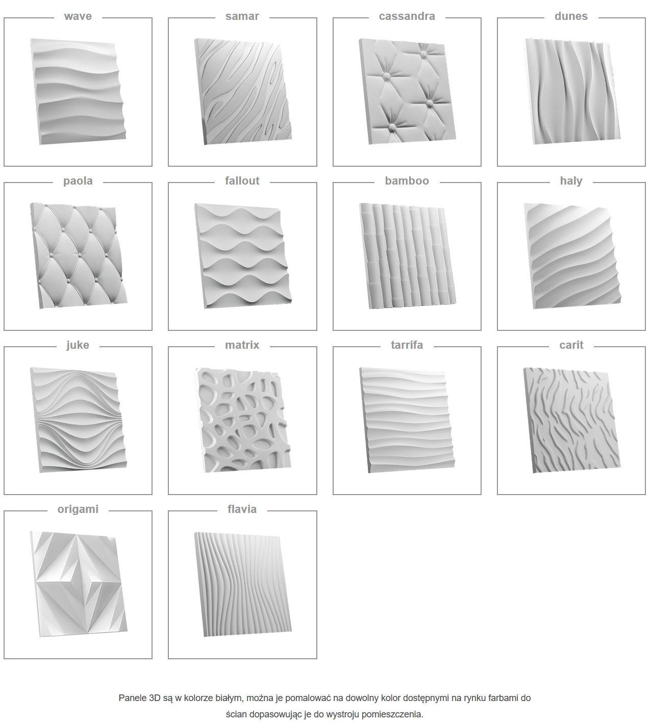 Panele ścienne 3d Gipsowe Panel Dekoracyjny Leszno