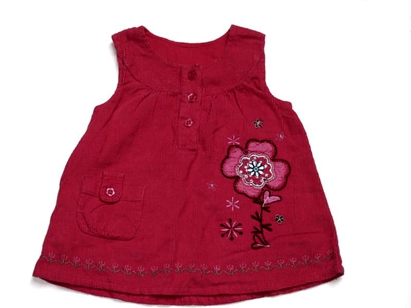 6c37fc436b KWIATEK malinowa sukienka princeska sztruks 56 62 - 7399460288 ...